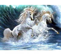 Алмазная вышивка Волна лошадей 30*40 см (арт. FS200)