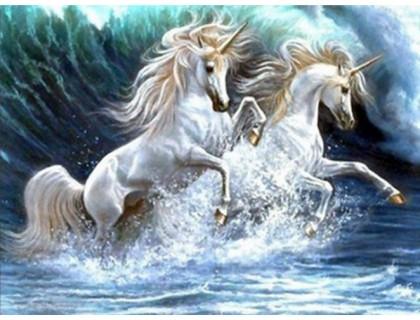Купить Алмазная вышивка Волна лошадей 30*40 см (арт. FS200)