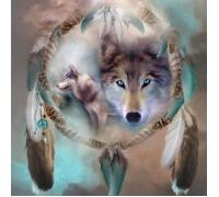 Набор алмазной вышивки Сильный волк 50 х 50 см (арт. FS218)