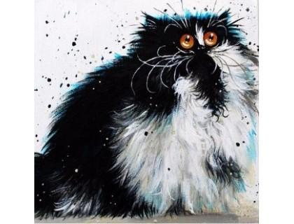Купить Алмазная вышивка Удивленный кот 30 х 30 см (арт. FS220)