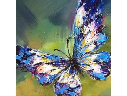 Купить Алмазная вышивка Мерцание бабочки 30 х 30 см (арт. FS254) DIY
