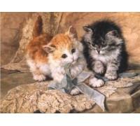 Алмазная вышивка Ласковые котята 30 х 40 см (арт. FS285)