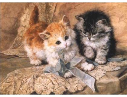 Купить Алмазная вышивка Ласковые котята 30 х 40 см (арт. FS285)