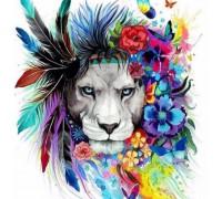 Алмазная вышивка Радужный лев 40 х 40 см (арт. FS307)