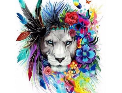 Купить Алмазная вышивка Радужный лев 40 х 50 см (арт. FS307)