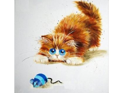 """Купить Алмазная вышивка Кошки-мышки 30 х 30 см (арт. FS309) серия """"Котомир"""""""