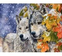 Алмазная живопись Волчья любовь 40 х 30 см (арт. FS318)