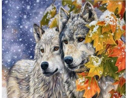 Купить Алмазная живопись Волчья любовь 40 х 30 см (арт. FS318)