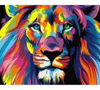 Алмазная вышивка Радужный лев 30*40 см (арт. FS370)