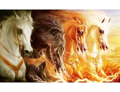 Купить Набор алмазной мозаики Сила лошадей 40 х 30 см (арт. FS382)