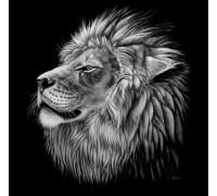 Алмазная мозаика Могучий лев 40 х 40 см (арт. FS407)