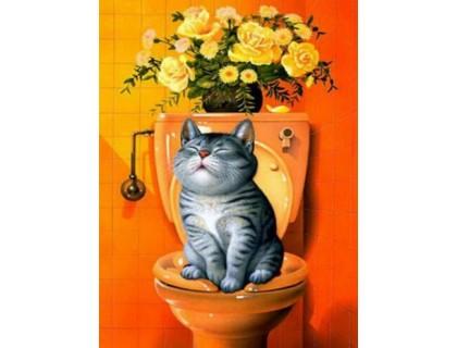 Купить Алмазная вышивка Послушный котик 25 х 20 см (арт. FS423)