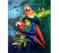 Алмазная мозаика Пара пернатых попугаев 30 х 40 см (арт. FS531)