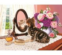 Набор алмазной мозаики Любопытный котенок 50 х 40 см (арт. FS663)