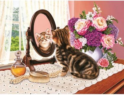 Купить Набор алмазной мозаики Любопытный котенок 30 х 40 см (арт. FS663)