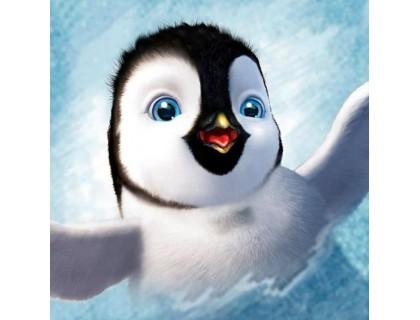 Купить Алмазная вышивка квадратные камни 30 х 30 см Малыш пингвин (арт. FS858)
