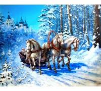 Алмазная вышивка Волна лошадей 30*40 см (арт. FS973)
