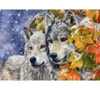 Алмазна мозаїка My Art 40 х 50 см на підрамнику Вовк і вовчиця (арт. TN700)