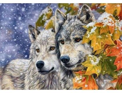 Купить Diamond painting Алмазная мозаика My Art 40 х 50 см на подрамнике Волк и волчица (арт. TN700)