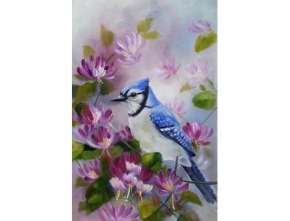 Купить Алмазная мозаика без коробки MyArt Птица счастья 40 х 30 см (арт. MA599)