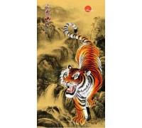 Алмазная мозаика Тигр 65 х 35 см (арт. PR058) частичная выкладка