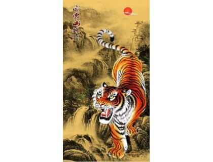 Купить Алмазная мозаика Тигр 65 х 35 см (арт. PR058) частичная выкладка