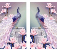 Алмазная вышивка Диптих Пара павлинов KLN 2 х 44 х 24 см (арт. PR728) две картины