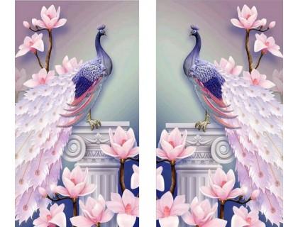 Купить Алмазная вышивка Диптих Пара павлинов KLN 2 х 44 х 24 см (арт. PR728) две картины