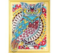 Алмазная вышивка Зоркая сова 40 х 50 см (арт. PR862) частичная выкладка