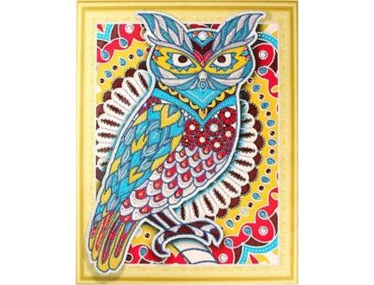 Купить Алмазная вышивка Зоркая сова 40 х 50 см (арт. PR862) частичная выкладка