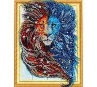 Алмазная вышивка Созвездие льва 40 х 50 см (арт. PR863) частичная выкладка