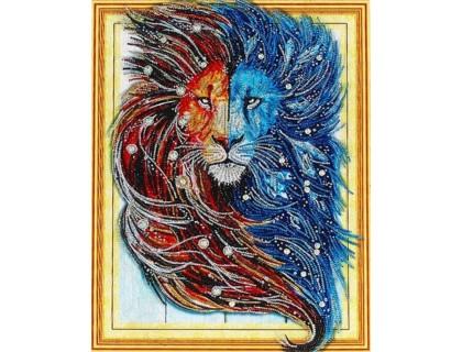 Купить Алмазная вышивка Созвездие льва 40 х 50 см (арт. PR863) частичная выкладка