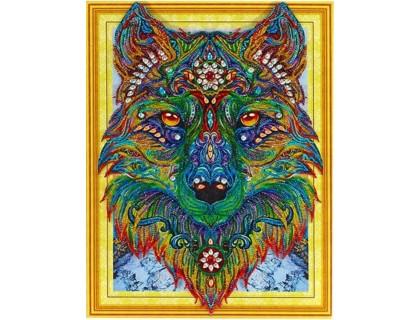 Купить Алмазная вышивка Яркий волк 40 х 50 см (арт. PR865) частичная выкладка