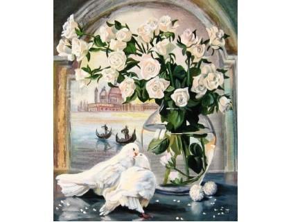 Купить Алмазная вышивка 50 х 40 см на подрамнике Вестники любви (арт. TN646)