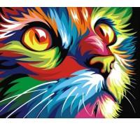 DIY Алмазная мозаика 50 х 40 см Мой любимый кот  на подрамнике (арт. TN717)