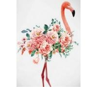Алмазная вышивка 40 х 30 см на подрамнике Розовый фламинго (арт. TN799)