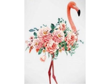 Купить Алмазная вышивка 40 х 30 см на подрамнике Розовый фламинго (арт. TN799)