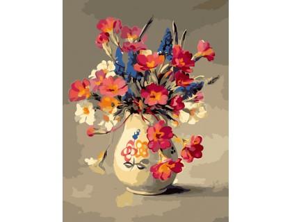 Купить Картина по номерам без коробки ArtStory Ароматный букет в вазе  30 х 40 см (арт. AS0215)