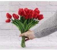 Цветы тюльпаны искусственные красные 31 шт декор букет DT004