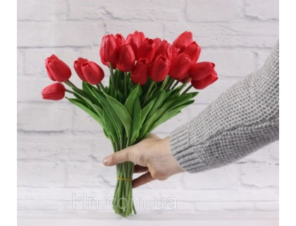 Купить Цветы тюльпаны искусственные красные 31 шт декор букет DT004