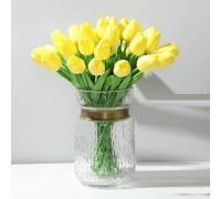 Цветы тюльпаны искусственные желтые 31 шт декор букет DT003