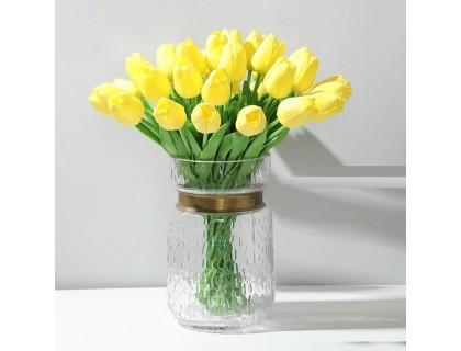 Купить Цветы тюльпаны искусственные желтые 31 шт декор букет DT003