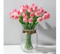 Цветы тюльпаны искусственные розовые 31 шт декор букет DT005