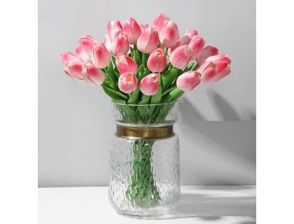 Купить Цветы тюльпаны искусственные розовые 31 шт декор букет DT005
