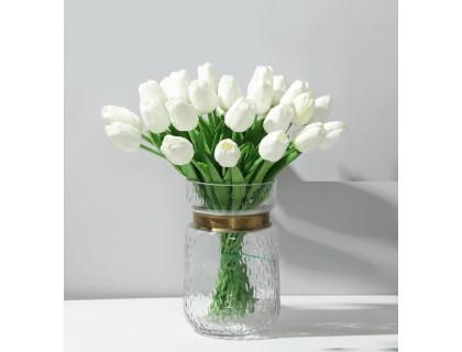 Купить Цветы тюльпаны искусственные белые 31 шт декор букет DT001