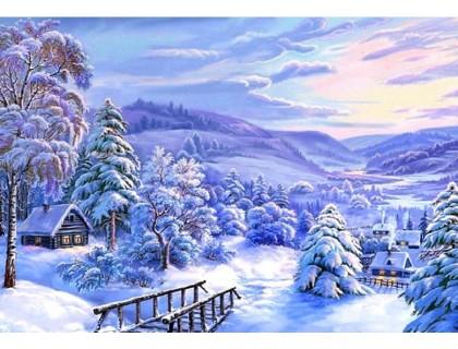 Купить Набор алмазной вышивки Зимняя сказка 30 х 40 см (арт. FR436)