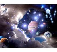 Алмазная вышивка Вселенная 30 х 45 см (арт. FS043)