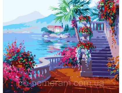 Купить Картина по номерам Menglei КН1094 Набережная в цветах 40 х 50 см