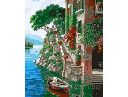 Купить Картина по номерам Идейка MG1101 Красочная пристань 40 х 50 см