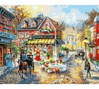 Картина по номерам Menglei КН1112 Городская площадь 40 х 50 см